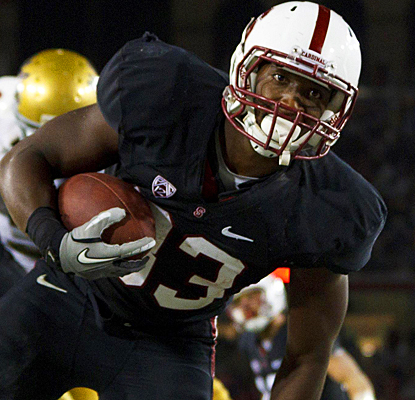 Stanford's Stepfan Taylor picks up 112 yards and a pair of touchdowns on 17 carries against UCLA. (US Presswire)
