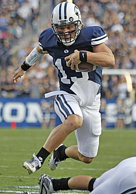 BYU coach Bronco Mendenhall won't reveal whether Riley Nelson will start against San Jose State. (AP)