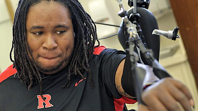 Ex-Rutgers football player Eric LeGrand is grateful to have survived his spinal injury. (AP)