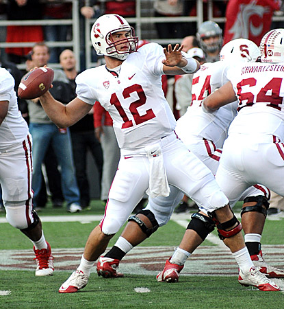 Andrew Luck throws four second-half touchdown passes for Stanford, winners of 14 straight games. (US Presswire)