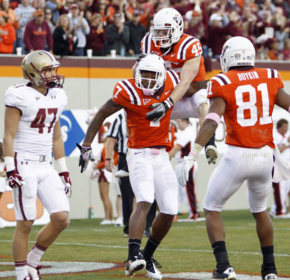 The Hokies break out of their funk in the second half against Boston College to earn their third straight victory.  (US Presswire)