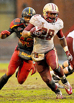 Know this guy? BC's Rolandan Finch rolls up 243 yards vs. Maryland. (US Presswire)