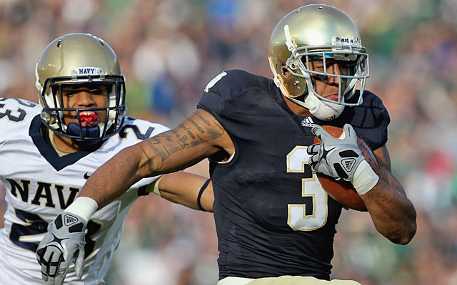 Michael Floyd is one of the Irish's best players and just happens to be a Charlie Weis recruit. (Getty Images)
