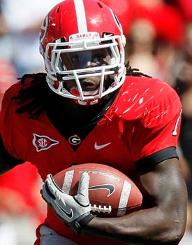 Isaiah Crowell leads the Bulldogs with 698 yards and four touchdowns. (Getty Images)