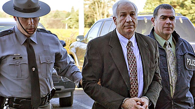 Longtime Penn State assistant Gerald 'Jerry' Sandusky is charged with sexually abusing eight men. (AP)