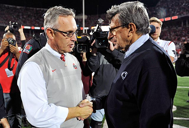 One year ago, they were seemingly infallible. Now, Jim Tressel and Joe Paterno are fired. (US Presswire)