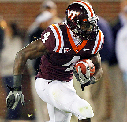 Virginia Tech's David Wilson rushes for a career-high 175 yards on 23 carries against Georgia Tech. (US Presswire)