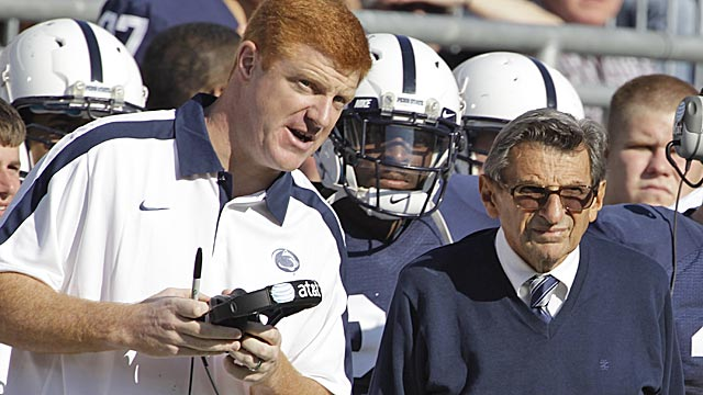 McQuery played quarterback for Joe Paterno at Penn State before joining Paterno's coaching staff. (AP)