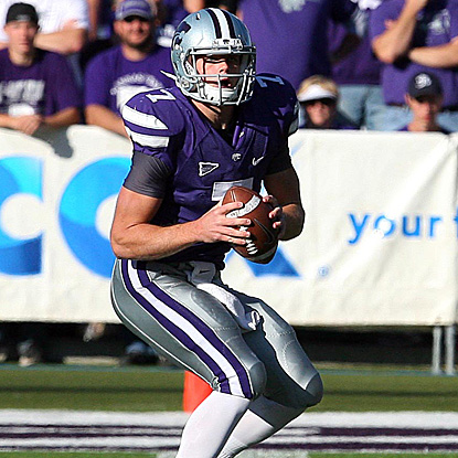 Collin Klein enjoys a six-touchdown day, including the game winner on a QB sneak in the fourth overtime. (US Presswire)