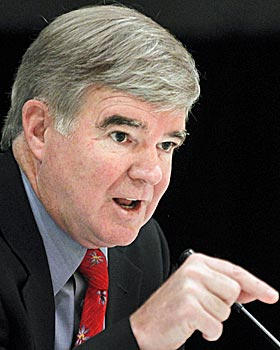 NCAA President Mark Emmert is going against protocol with Penn State. (AP)