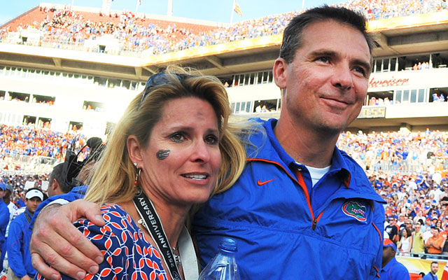 Urban Meyer gave up coaching last December after winning two BCS titles at Florida. (Getty Images)