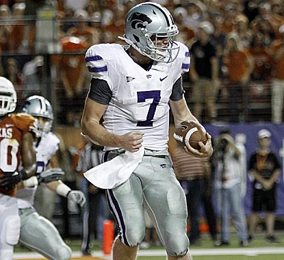 K-State's Collin Klein is just two TDs short of Ricky Williams' Big 12 single-season record of 27. (AP)