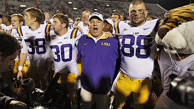 No. 1 LSU is just two wins away from locking up a berth in the BCS title game in New Orleans. (AP)