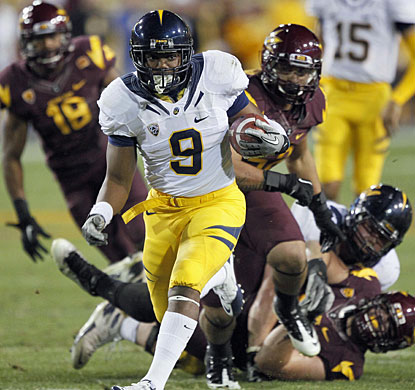C.J. Anderson scores a hat trick of TDs to make sure the Golden Bears get a ninth winning season in 10 years. (AP)