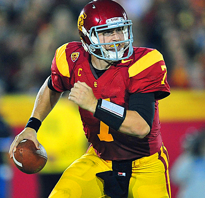 USC's Matt Barkley eviscerates UCLA's defense for 423 passing yards and six touchdowns. (US Presswire)