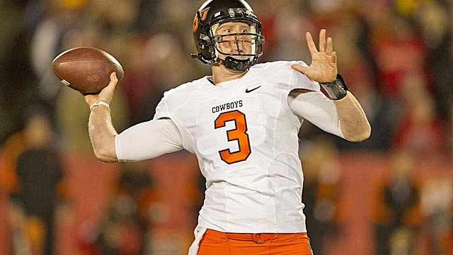 Brandon Weeden will try to lead the Cowboys to their first win over the Sooners in nine years. (US Presswire)
