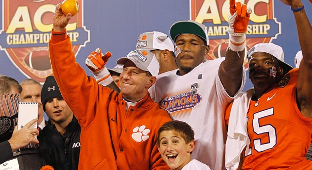 Dabo Swinney and Clemson prove they're the new top dogs in the ACC. (Getty Images)