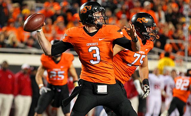 Brandon Weeden and OSU lit up the Sooners, but it wasn't enough to change voters' minds. (US Presswire)