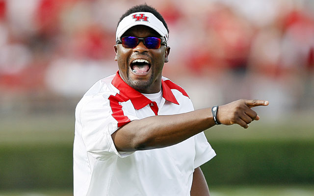 Kevin Sumlin, 35-17 in four year at Houston, will be Texas A&M's coach in its first SEC season. (Getty Images)