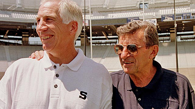 Once seen as Joe Paterno's successor, Jerry Sandusky mysteriously retired at 55 (AP)