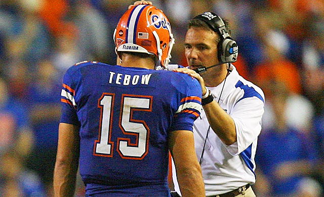 Urban Meyer enjoyed his greatest success at Florida when Tim Tebow ran the offense. (Getty Images)