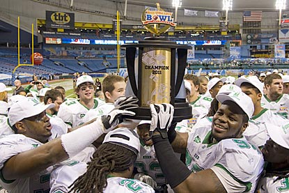 With their victory, the Marshall Thundering Herd are now 7-2 in bowl games since rejoining Division I-A football in 1997.  (US Presswire)