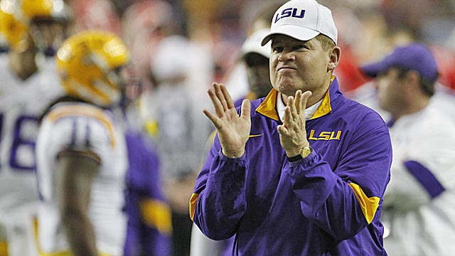 LSU's Miles handily wins coach of the year vote after run to BCS title game