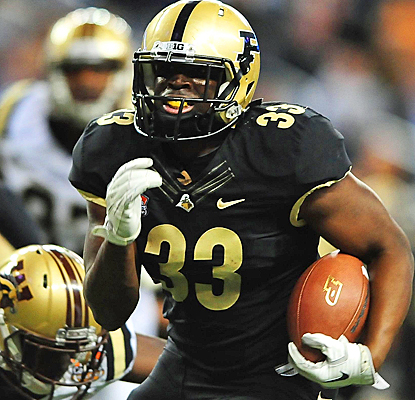 Purdue's Reggie Pegram scores the first two touchdowns of his career against Western Michigan. (US Presswire)