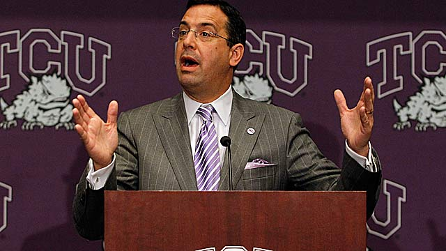 TCU AD Chris Del Conte on moving to the Big 12: 'We are coming in on par with everybody else.' (Getty Images)