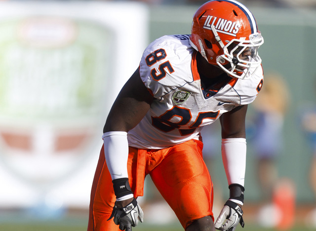 Whitney Mercilus led the NCAA in sacks (16) and forced fumbles (nine). (US Presswire)