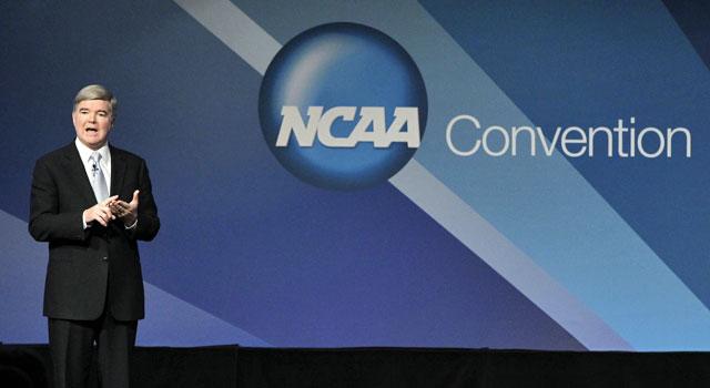 NCAA president Mark Emmert is trying to get things right after a scandal-ridden year. (AP)