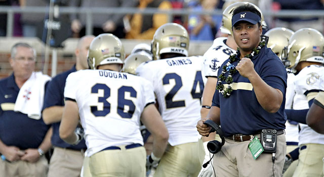 Ken Niumatalolo and Navy have a solid resume for the Big East. (US Presswire)