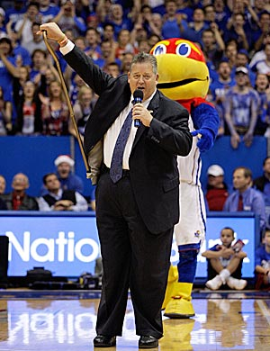 Weis brought his case to KU's sporting heart, Allen Fieldhouse, in December. (Getty Images)