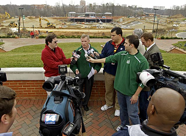 Charlotte's Brad Lambert talks about his first signing class for a program set to play in 2013. (Getty Images)