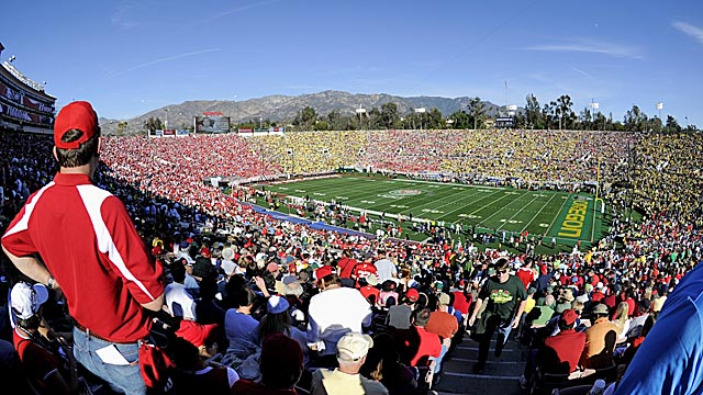 In Delany's plan, the Rose Bowl would be in the national title game rotation. (US Presswire)