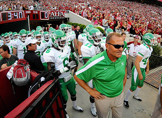 In 2011, his debut season in Denton, McCarney led the Mean Green to a 5-7 record. (Getty Images)
