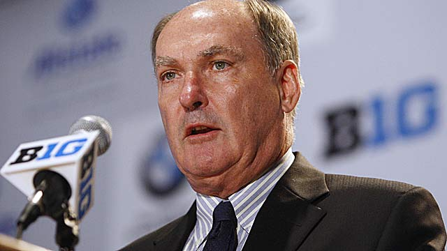Big Ten commissioner Jim Delany has publicly backed limiting postseason to league champs. (US Presswire)