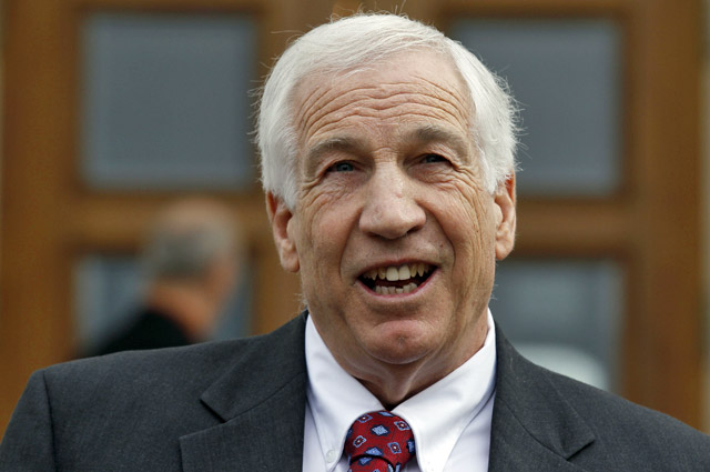 Sandusky is a former Penn State assistant football coach charged with sexually abusing boys. (AP)