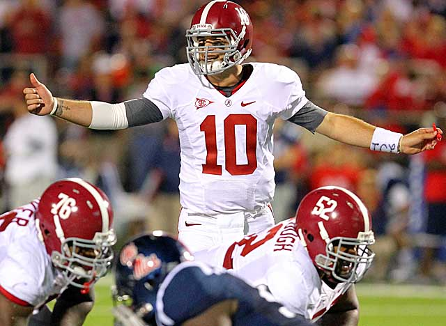 AJ McCarron is the highest profile player returning to Nick Saban's offense next season. (US Presswire)