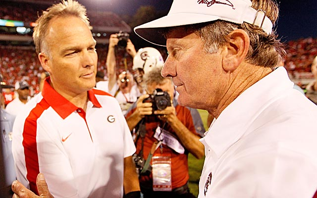 Steve Spurrier's Gamecocks look to be Georgia's biggest threat to winning another SEC East title. (Getty Images)