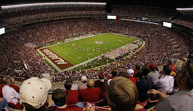 Presumably, a 2011 national semifinal would have been held at Bryant-Denny Stadium. (Getty Images)
