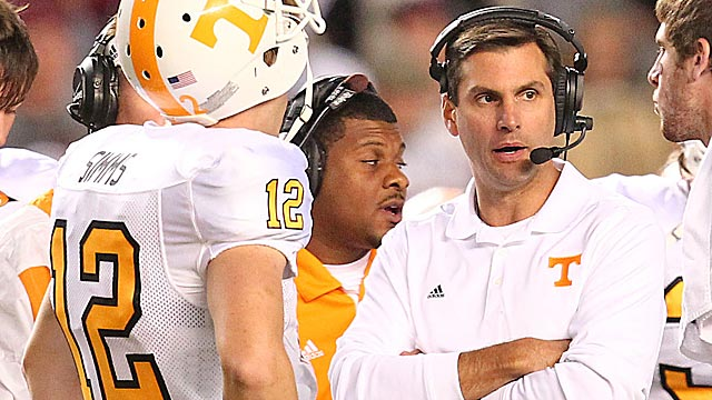 Dooley was forced to turn to backup Matt Simms after losing Tyler Bray to injury. (US Presswire)