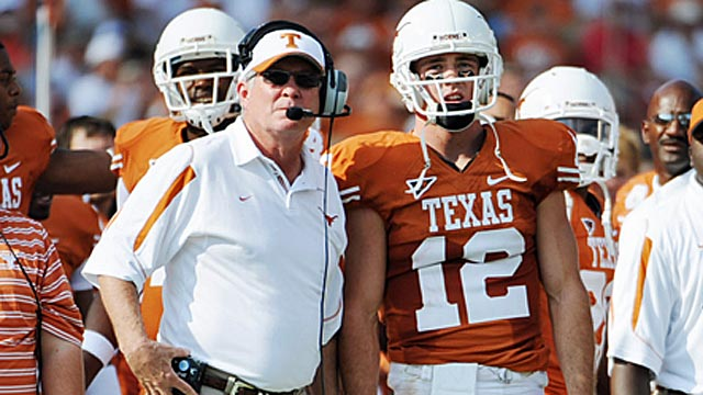 Under a conference-champion only format, Texas wouldn't have made a playoff in 2008. (US Presswire)