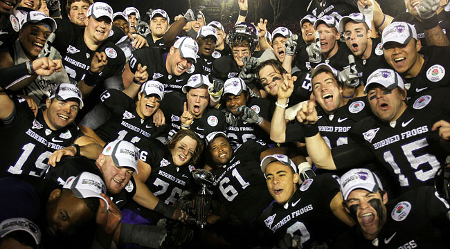 TCU finished the season undefeated, but didn't get a shot at the national title. (US Presswire)