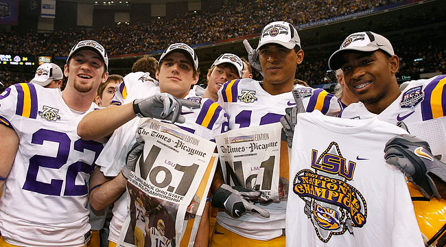 Despite losing two games during the regular season, LSU went on to win the national title. (Getty)