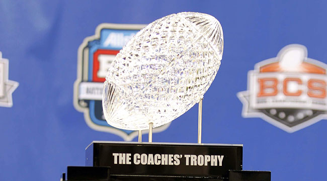 The BCS trophy has been given to the national champion since the 1999 Fiesta Bowl. (US Presswire)