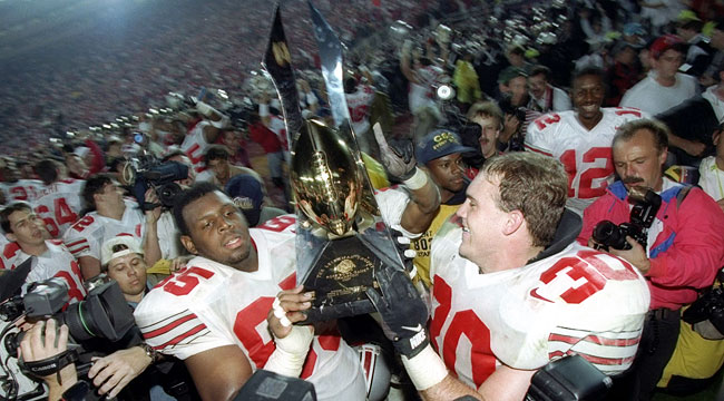 Ohio State rallied to win the Rose Bowl to prevent a split national title. (Getty)