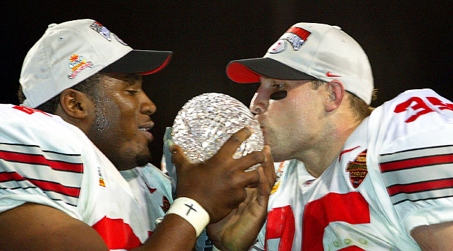 The 2003 Fiesta Bowl was the only BCS Championship game to go into overtime. (Getty)