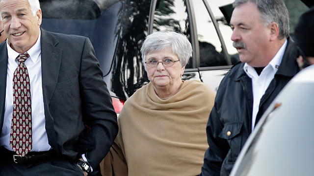Sandusky's legal team calls his wife, Dottie, to testify on behalf of her husband. (Getty Images)