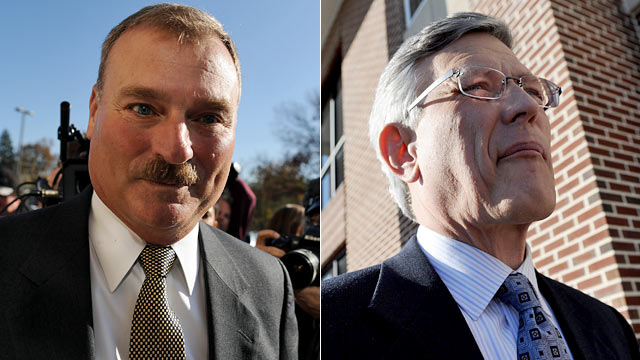 Penn State VP Gary Schultz and AD Tim Curley are both charged with perjury. (Getty Images)